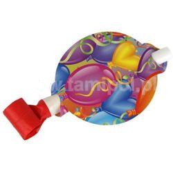 TRĄBKI GWIZDKI PAPIEROWE Z USTNIKIEM baloniki