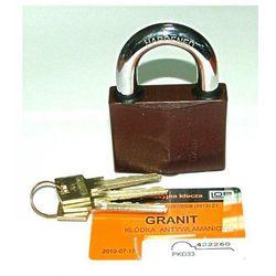 Kłódka Granit 1 atest klasy 4