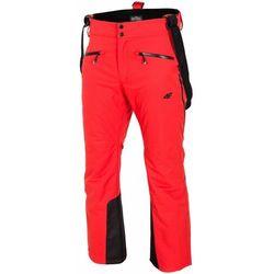 Spodnie narciarskie męskie SPMN151Z - czerwony