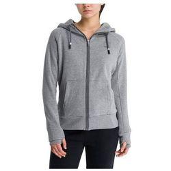 bluza BENCH - Her. Zip Through Sweat Hoody Winter Grey Marl (MA1054)
