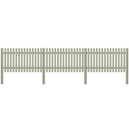 Przęsła i elementy ogrodzenia, vidaXL Panel ogrodzeniowy, impregnowana sosna, 5,1 m x 150 cm, 5/7 cm