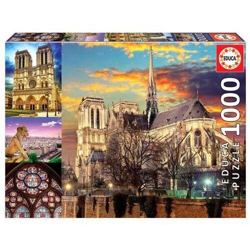 Puzzle, Puzzle 1000 elementów Notre Dame Kolaż