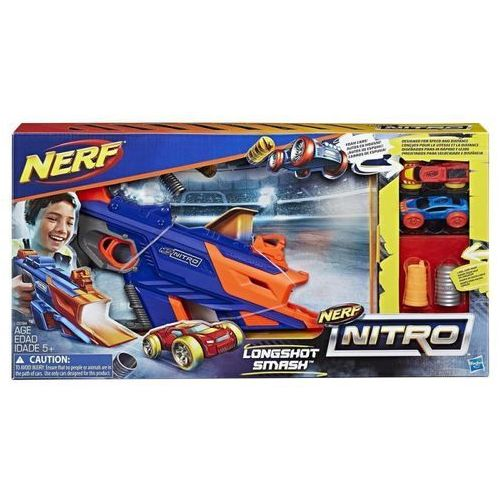 Kolejki i tory dla dzieci, Nerf Nitro Longsh ot Smash - Hasbro. DARMOWA DOSTAWA DO KIOSKU RUCHU OD 24,99ZŁ