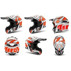 Kask AIROH TERMINATOR OPEN VISION SHOCK ORG-GLOSS