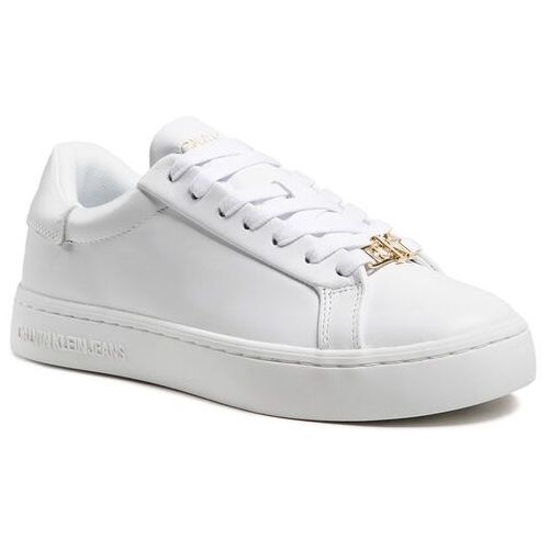 Damskie obuwie sportowe, Sneakersy CALVIN KLEIN JEANS - Cupsole Sneaker Laceup YW0YW00162 Bright White YAF
