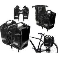 Sakwy, torby i plecaki rowerowe, CO1010.30.02 Sakwy rowerowe Crosso DRY SMALL 30l Czerwone zestaw na tył / przód