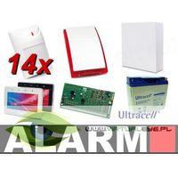 Zestawy alarmowe, Zestaw alarmowy SATEL Integra 128, klawiatura dotykowa, 14 czujek, sygnalizator zewnętrzny