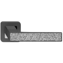 Klamka drzwiowa Metalbud Deco grafitowa z srebrnymi kryształkami
