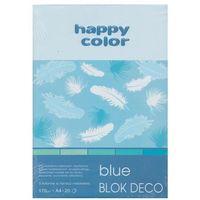 Bloki, Blok Deco Blue A4 5 kolorów tonacja niebieska 5 sztuk