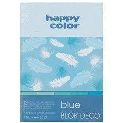 Blok Deco Blue A4 5 kolorów tonacja niebieska 5 sztuk
