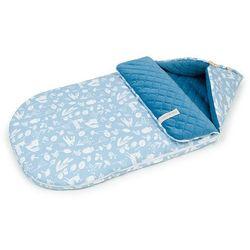 """Śpiworek do wózka gondoli fotelika 0-12 miesięcy """"S"""" - Las jeansowy / jeans"""