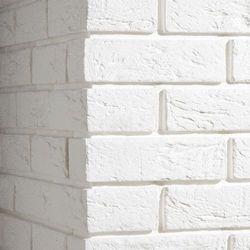 PŁYTKA CEGŁOPODOBNA Z FUGĄ PARMA 1 WHITE NAROŻNIK OPAKOWANIE 0,5M2 FIRMY STEGU