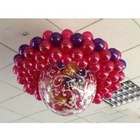 Pozostałe wyposażenie domu, Balon strzelający olbrzym z nadrukiem/metalic, 100 balonów, pompka i dodatki