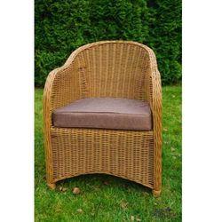 Fotel ogrodowy z okrągłego technorattanu PRIMO