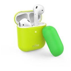 PURO ICON Fluo etui do słuchawek Airpods 1-2 gen (Fluo Yellow + Fluo Green Cap)