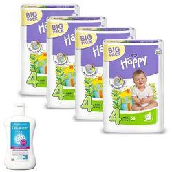 Pieluszki Happy Maxi 4x66szt. + Oilatum Baby Balsam do ciała TANIEJ!