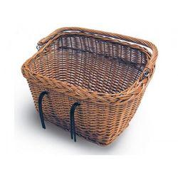 Kosz na kierownicę/bagażnik BASIL DUBLIN mocowanie na haki, wiklinowy brązowy