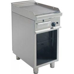 Płyta grillowa gazowa ryflowana wolnostojąca | 395x530mm | 6000W