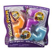 Kreatywne dla dzieci, Kinetic Foam Multi 3-pak pomarańczowy fioletowy niebieski *