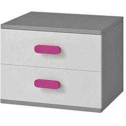 Stylowa szafka nocna z kolorowymi uchwytami Florentino 13X - szara
