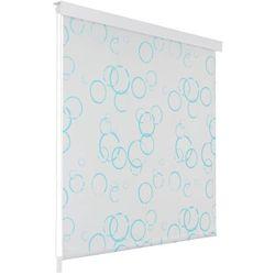 Roleta prysznicowa 80 x 240 cm, wzór w bąbelki