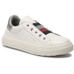 Sneakersy TOMMY HILFIGER - Low Cut Sneaker T3A4-30435-0709 D White 100