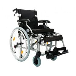 Wózek inwalidzki aluminiowy Prestige, Srebrny metalic, Koła pełne lub pomp