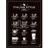 Plakaty, Plakat Italian Style Coffee 40 x 50 cm