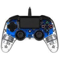 Gamepady, Kontroler BIG BEN Nacon Compact Controller Przezroczysty Niebieski do PS4