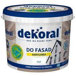 Farba fasadowa Dekoral Polinit ciapła biel 5 l