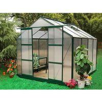 Szklarnie, Szklarnia ogrodowa z poliwęglanu o pow. 7,5 m² GREENEA II z podstawą