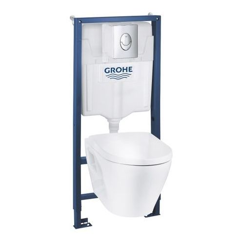 Stelaże i zestawy podtynkowe, Zestaw podtynkowy WC Grohe Serel z miską bezkołnierzową i wolnoopadającą deską
