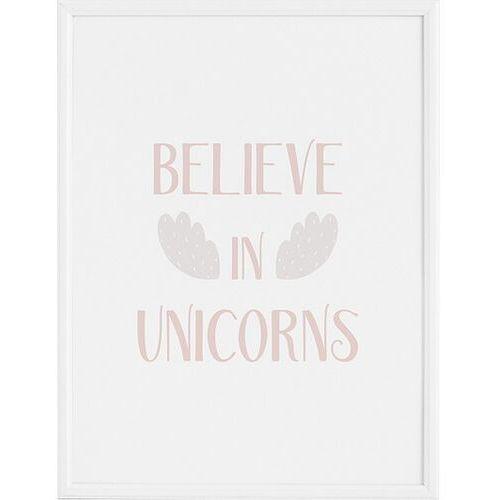 Plakaty, Plakat Believe in Unicorns 21 x 30 cm