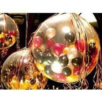 Pozostałe wyposażenie domu, Balon strzelający olbrzym pastel, 100 balonów, pompka i dodatki
