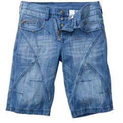 Bermudy dżinsowe Regular Fit bonprix niebieski