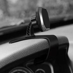 Magnetyczny uchwyt samochodowy klamra na deskę rozdzielczą czarny