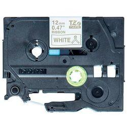Oryginalna taśma Brother TZe-R234 12mm x 4m biała/złoty nadruk