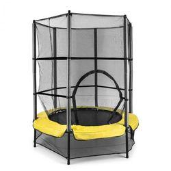 KLARFIT Rocketkid 3 trampolina 140cm siatka zabezpieczająca amortyzacja z liny bungee żółta