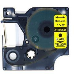 Rurka termokurczliwa DYMO Rhino 1805444 termokurczliwa 24mm x 1.5m ø 6.0mm-11.0mm żółty czarny nadruk - zamiennik   OSZCZĘDZAJ D