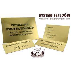 System szyldów - opracowanie graficzne szyldów i tabliczek dla szpitala, ośrodka pomocy, urzędu