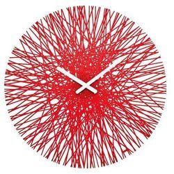 Zegar ścienny SILK, okrągły - kolor czerwony, KOZIOL