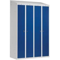 Szafa ubraniowa CLASSIC COMBO, 4 drzwi, 1900x1200x550 mm, niebieski