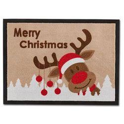 """Wycieraczka """"Merry Christmas"""" bonprix brązowy"""