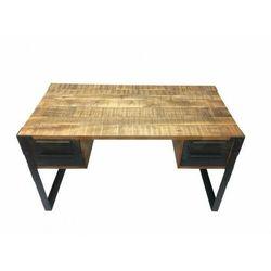INVICTA biurko FACTORY 135 cm Mango - drewno naturalne, metal