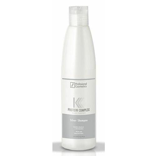 Mycie włosów, Profesional Cosmetics PROTEIN COMPLEX SILVER SHAMPOO Srebrny szampon do eliminowania zażółceń ze siwych bądź rozjaśnianych włosów (1000 ml)