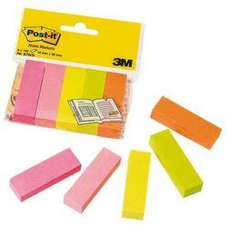 Zakładki indeksujące POST-IT 670/5 papier 15x50mm 5x100 kart. mix kolorów neonowy