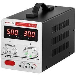 Stamos Soldering Zasilacz laboratoryjny - 0-30 V - 0-5 A DC - LED S-LS-34 - 3 LATA GWARANCJI