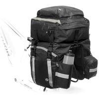 Sakwy, torby i plecaki rowerowe, Trzyczęściowa sakwa na bagażnik Author Tourer 40, czarna