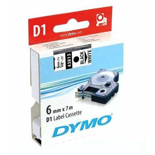 Taśmy barwiące, Taśma Dymo D1 - 6mm x 7m czarny/biały