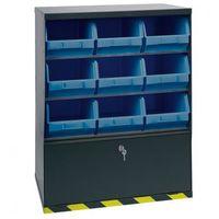 Szafki warsztatowe, Szafki z plastikowymi pojemnikami i szufladą, 9 boksów
